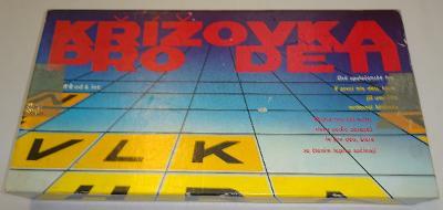 RETRO SPOLEČENSKÁ HRA - KŘÍŽOVKA PRO DĚTI, 1985