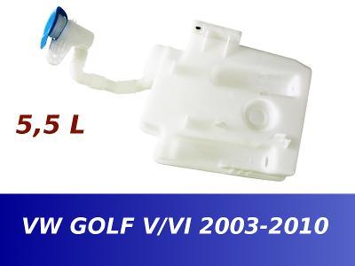 Nádobka nádržka ostřikovačů VW GOLF V VI 5 6 5,5L