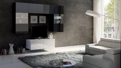 Moderní hezká obývací stěna CALABRIA 10 /opce LED!