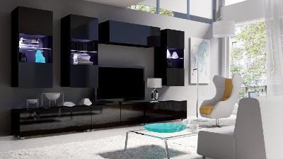 Moderní hezká obývací stěna CALABRIA 11 / opce LED