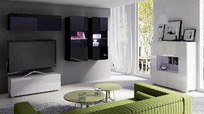 Moderní hezká obývací stěna CALABRIA 12 /opce LED!