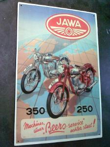 plechová cedule -jawa -350-250