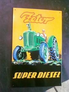 plechová cedule -zetor super diesel