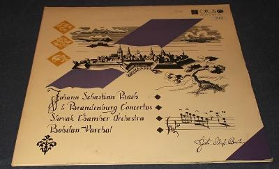 LP J. S. Bach - Brandenburské koncerty č.1-6 /2LP/