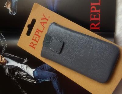 REPLAY KOŽENÉ POUZDRO iPhone/Samsung/Sony