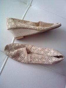 Boty krajkové dámské  vel.25,5cm použité