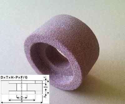 Brusný kotouč tvarovaný s oboustr. vybráním 70×40×30 - 52×12/12