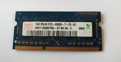 Paměť do NB Hynix 1GB DDR3 1066Mhz SO-DIMM