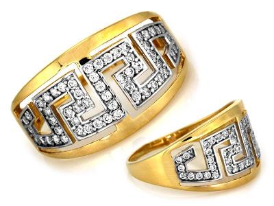 Zlatý prsten Au 585 váha 2,81g (*)