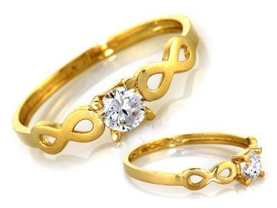 Zlatý prsten Au 585 váha 1,05 g (*)