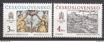 Československo 1987 Bratislava Mi# 2928-29