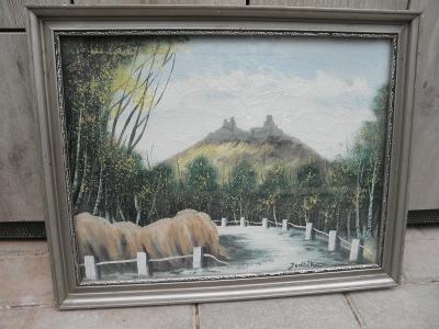 OBRAZ - POHLED NA TROSKY - JEDLIČKA - 40 x 30 cm