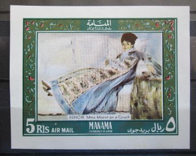 Manáma 1969 Umění, Renoir Mi# Block 35 0396