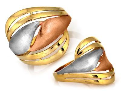 Zlatý prsten Au 585 váha 3,86g (*)