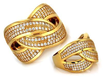 Zlatý prsten Au 585 váha 10,62 g (*)