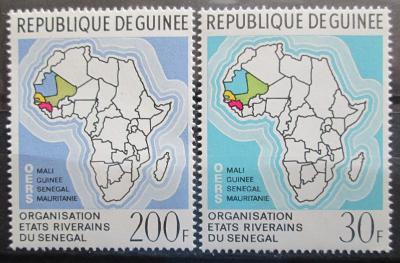 Guinea 1970 Mapa Afriky Mi# 559-60 0022