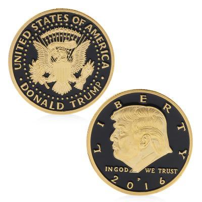 Pozlacená pamětní mince  Donald Trump 2016
