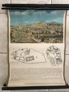 Školní plakáty  Architektura 3x , Řecko