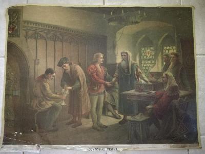 Školní plakát, Povýšení na mistra Logia 1908