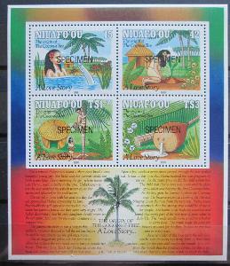 Tonga Niuafo'ou 1991 Vánoce Mi# Bl 13 Kat 20€ 0072