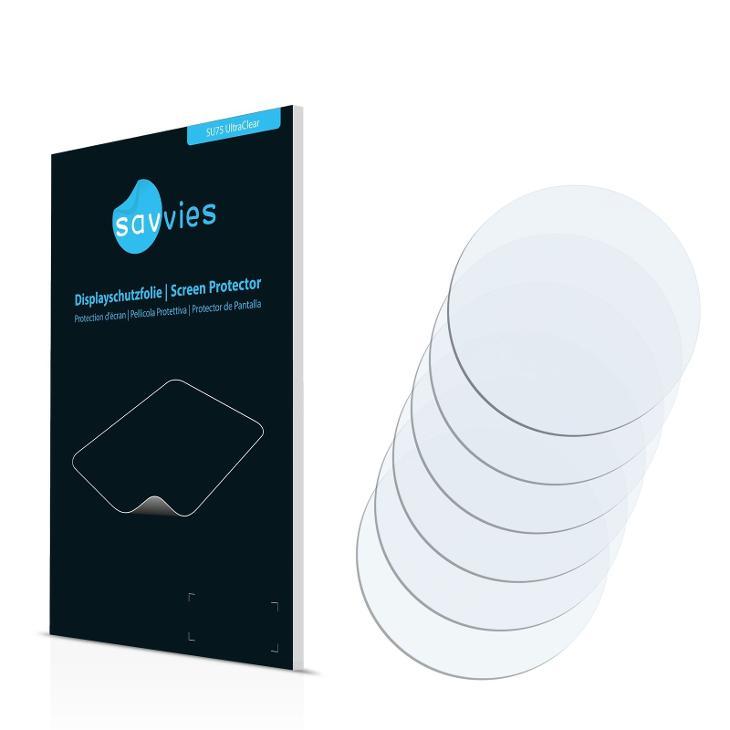 6x Ochranné fólie - Hodinky s ciferníkem 36 mm - Chytrá elektronika