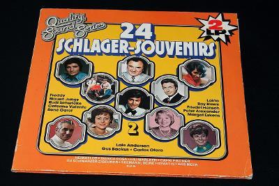 2LP -Various - 24 Schlager-Souvenirs 2. (d15)