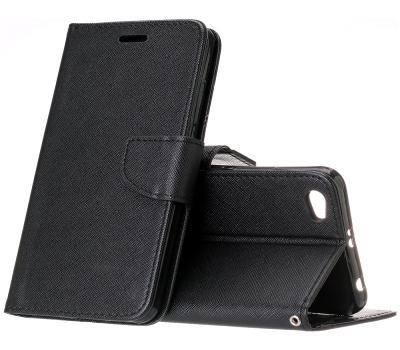 Černé flipové polohovací pouzdro obal Fancy pro Huawei Nova lite