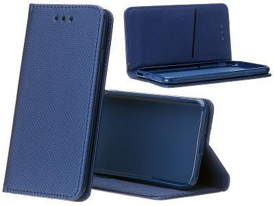 Flipové modré pouzdro obal MAGNET pro Lumia 650