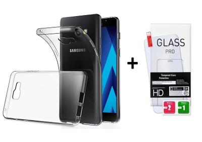 Tvrzené ochranné sklo + průhledný zadní kryt pro Huawei P8 lite 2017