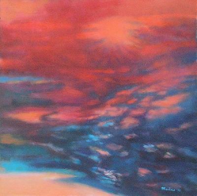 Tajemná dálka, orig. akryl, abstrakce