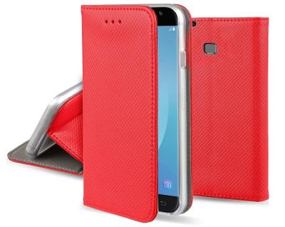 Flipové červené polohovací pouzdro obal MAGNET pro Huawei P20 lite
