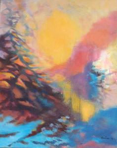 Pronikání světla, orig. akryl, abstrakce