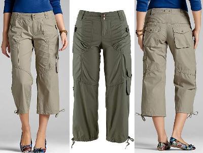 Nové lehké 3/4 sportovní olivové kalhoty bpc selection Bonprix v. M 38