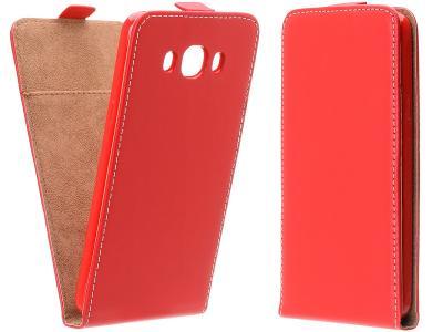 Flipové červené svislé pouzdro obal FLEXI pro Lumia 640