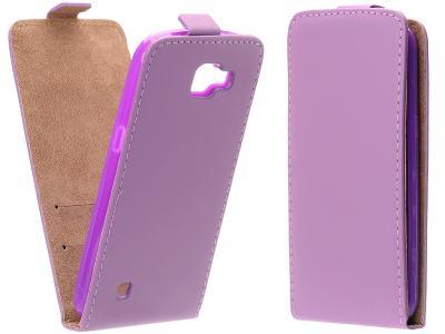 Flipové fialové pouzdro FLEXI pro LG Spirit (H440)