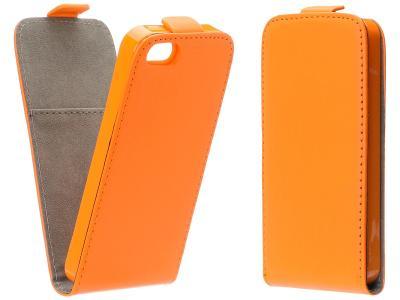 Flipové oranžové pouzdro obal FLEXI pro LG Spirit