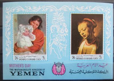 Jemen 1968 Umění, Den matek Mi# Block 72 Kat 10€ 0078