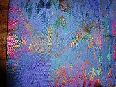 fialová dekorační ,,brokátovina,, 90 x 147+107x143+72x123+73x70