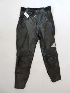 Kožené dámské kalhoty vel. L- gumové chrániče