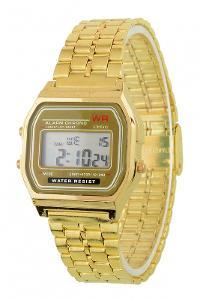 Retro digitálky zlaté digitální hodinky