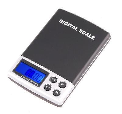 Kapesní digitální váha 200g - přesnost 0,01g