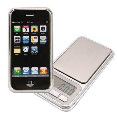 Kapesní digitální váha iPhone 500g přesnost 0,1g