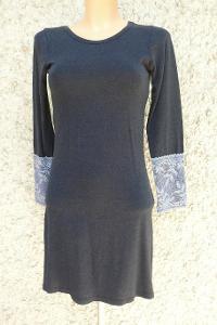 Zajímavé dámské šedé šaty S+Dárek