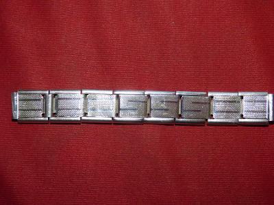 Hodí se! Okolo 1940-krásný kovový roztahovací náramek k pánským hodink