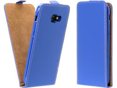 Flipové modré svislé pouzdro obal FLEXI pro Lumia 640