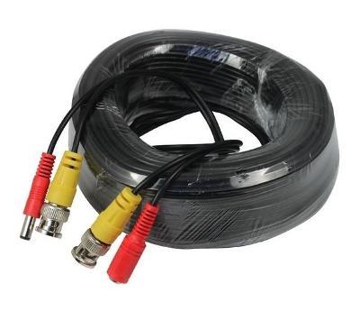 Kabel 20m pro kamery CCTV konektory BNC a DC