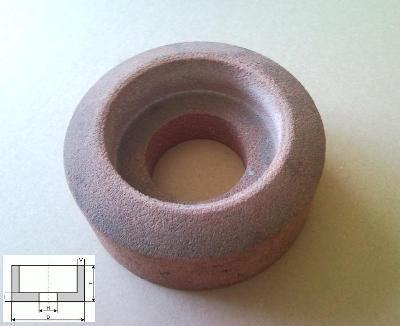 Brusný kotouč hrncovitý 120×52×52 - 22×25