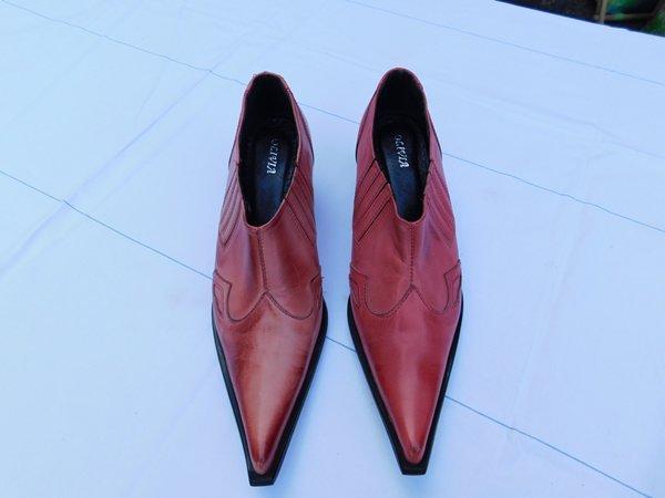 Kvalitní krásné kožené country botky vel.38 - Dámské boty