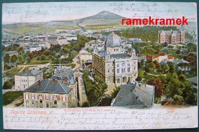 Teplice Šanov DA 1903 synagoga zničená (Ústí nad Labem Most Litoměřice