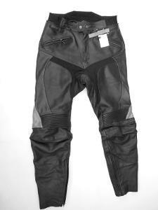 Kožené kalhoty MQP vel. 48- kapsy na chrániče